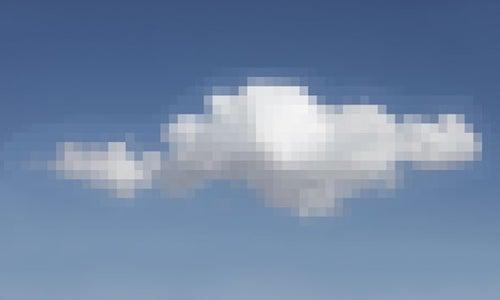 A pixelated cloud.